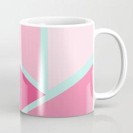 Modern Minimalist Girly Pink Mint Green Geometric Coffee Mug