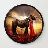 friendship Wall Clocks featuring Friendship by EnchantedWhispers