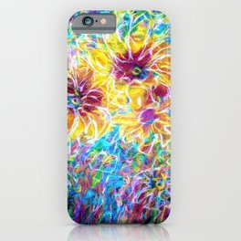 Countryside Sunflowers  by OLena Art iPhone Case