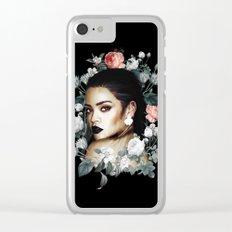 Floral Rihanna Clear iPhone Case