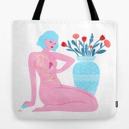 Kintsugi Girl Tote Bag