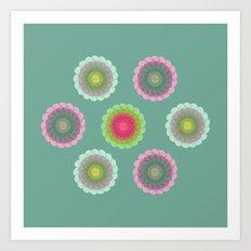 transparent floral pattern 3 Art Print