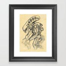 ALIEN2 SKETCH Framed Art Print