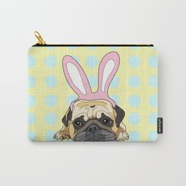 Happy Easter Pug Carry-All Pouch
