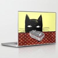 kitty Laptop & iPad Skins featuring  Kitty by Mary Kilbreath