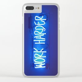 Work Harder Clear iPhone Case