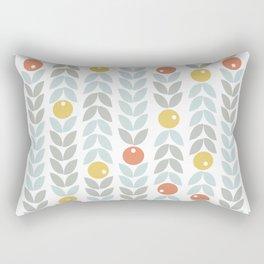 Mid Century Modern Retro Leaf and Circle Pattern Rectangular Pillow