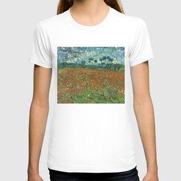 Vincent Van Gogh Poppy Field T-shirt