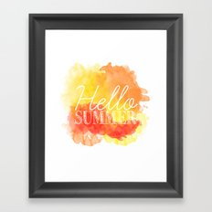 Hello Summer; Framed Art Print