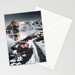 Lofoten aerial view Stationery Cards