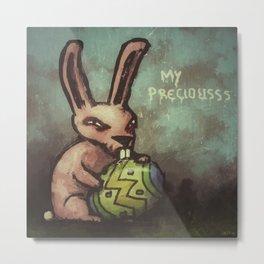 Evil Easter Bunny Metal Print