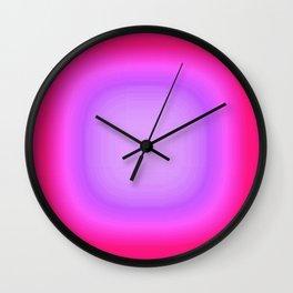 Pink Focus Wall Clock