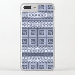 Ornament color blue . Clear iPhone Case