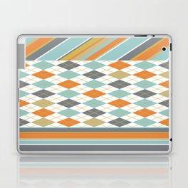Retro 1980s Argyle and Stripes Geometric Laptop & iPad Skin