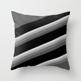 Simple black and white striped pattern . Oblique stripes . Throw Pillow