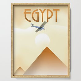 Egypt Travel poster Serving Tray