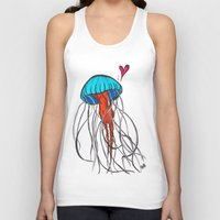 jelly fish Tank Tops featuring Jelly Fish by Josée Lennon