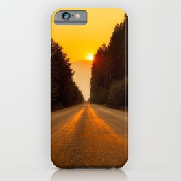 Canada Photography - Road Towards The Sunset iPhone Case