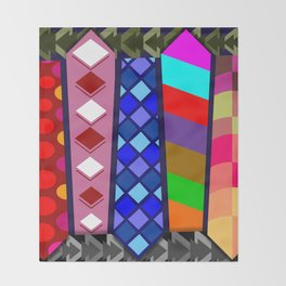 Multicolored Ties Throw Blanket