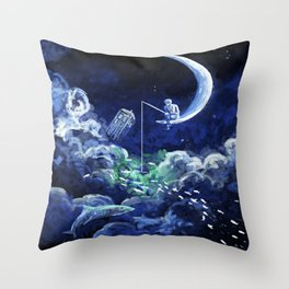 The Doctor Dreaming Of Fishing Throw Pillow