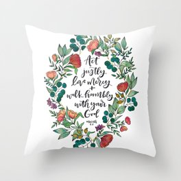 Act Justly Throw Pillow