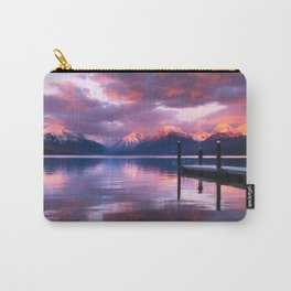 Boat dock at Lake McDonald Carry-All Pouch