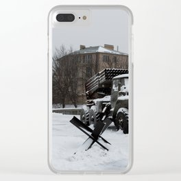 Echoes of the Ongoing Riot Clear iPhone Case