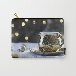 Tea With Sparkle - Gold Bokeh Carry-All Pouch