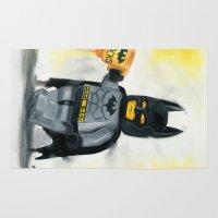 superhero Area & Throw Rugs featuring Lego Superhero by Toys 'R' Art