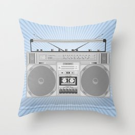 Boombox vector illustration Throw Pillow