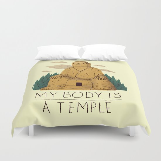 my body is a temple Duvet Cover