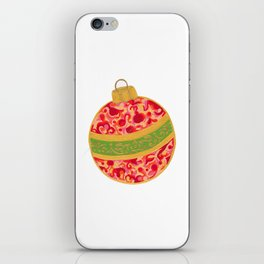Decorative Christmas Tree Ornament iPhone Skin