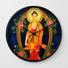The Jewel in the Lotus Wall Clock