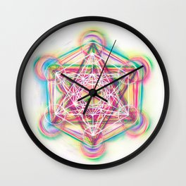 Metatron's Cube Sacred Geometry Wall Clock
