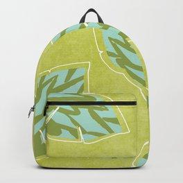 Grean Tea Leaves Pattern Backpack