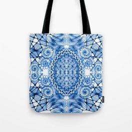 Blue Zentangle Tile Doodle Design Tote Bag