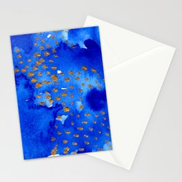 gold snow I Stationery Cards