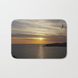Sunset over the sea of Gaeta Bath Mat