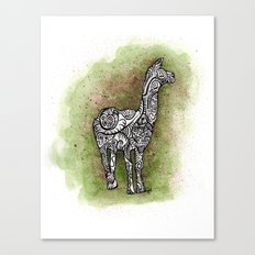 llama on a trip Canvas Print
