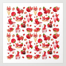 Foxberry Treats Art Print