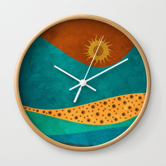 color under the sun (II) Wall Clock