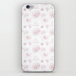 Soft Pastel Pink Rose Pattern iPhone Skin