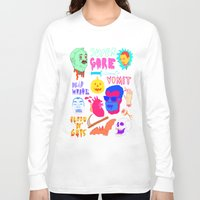 gore Long Sleeve T-shirts featuring Super Gore by Nick Cocozza