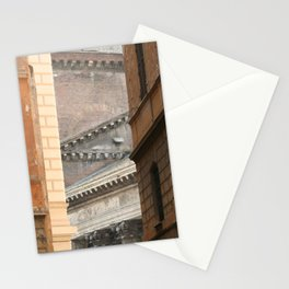 Street View of the Pantheon of Rome Stationery Cards