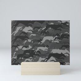 WEIMOUFLAGE GREY Mini Art Print