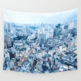 Tokyo City View Wall Tapestry