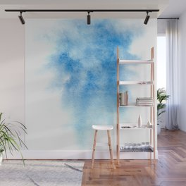 Blue watercolor background Wall Mural