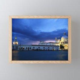 Lightning in Venice Framed Mini Art Print