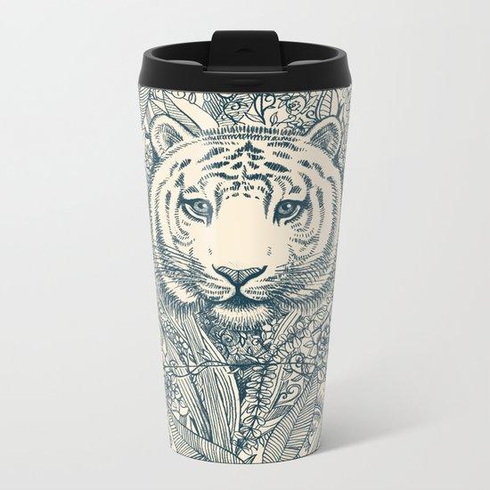 Tiger Tangle Metal Travel Mug