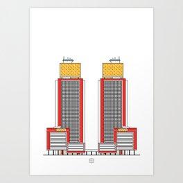 Torres del Centro Simón Bolívar Art Print